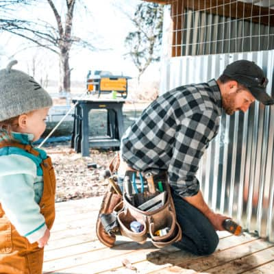 Raising goats and raising chickens – we're officially farmers