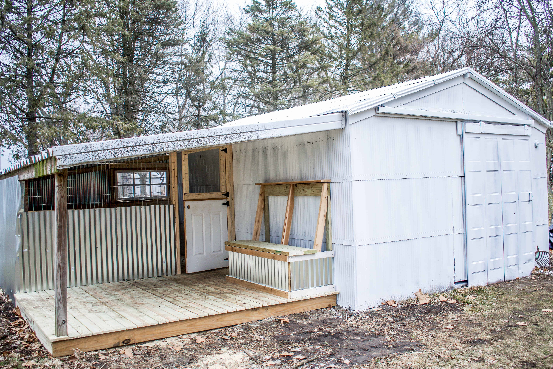 DIY goat house homestead