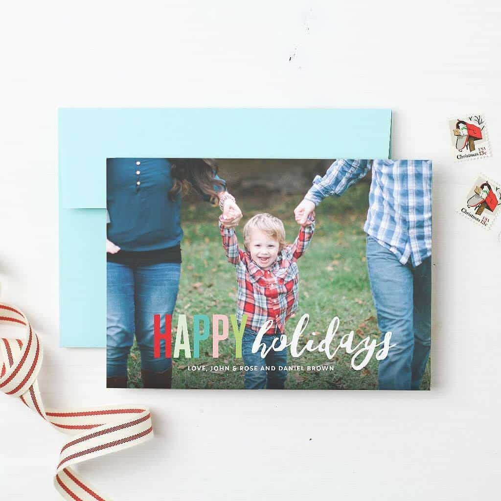 modern holiday cards